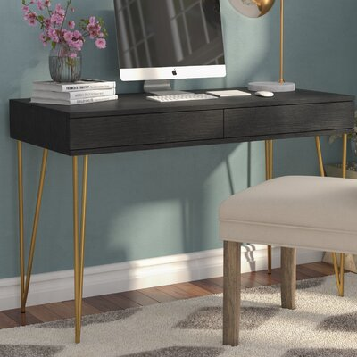 back to desks - Black Writing Desk