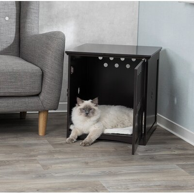 Greely Wooden Pet Crate Color: Brown