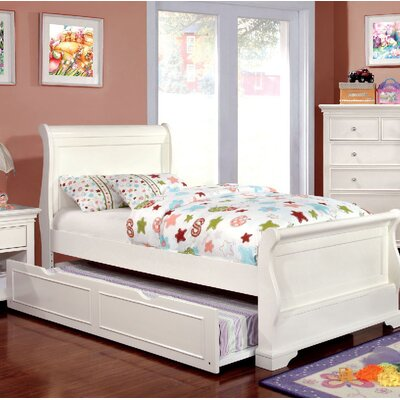 Wetzel Sleigh Bed with Trundle Size: Twin