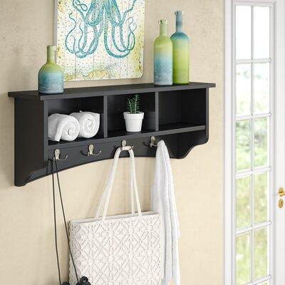 Bel Air 8 Hook Storage Shelf Color: Charcoal