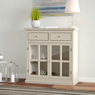 Charters Towers 2 Door Accent Cabinet Color: Antique White