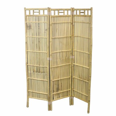 Vaughan Minimalist Foldable Bamboo 3 Panel Room Divider