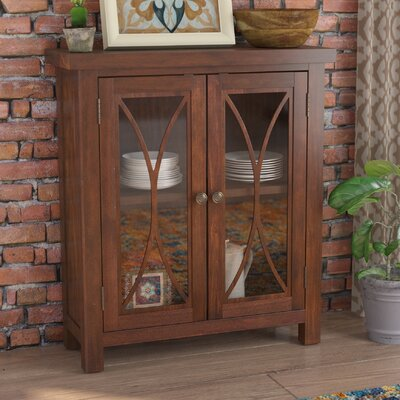 Sierra Madre 2 Door Accent Cabinet Color: Mahogany