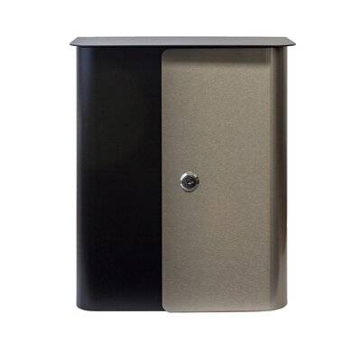 Winfield Locking Wall Mounted Mailbox Mailbox Color: Gray/Black