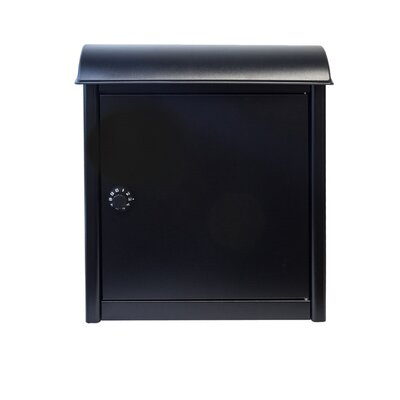Winfield Leece Locking Wall Mounted Mailbox Mailbox Color: Black
