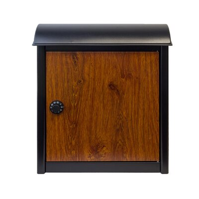 Winfield Leece Locking Wall Mounted Mailbox Mailbox Color: Brown