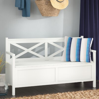 Stoneford Wood Storage Bench Color: White