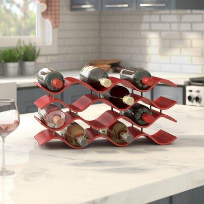 Bellas 12 Bottle Countertop Wine Bottle Rack Finish: Crimson