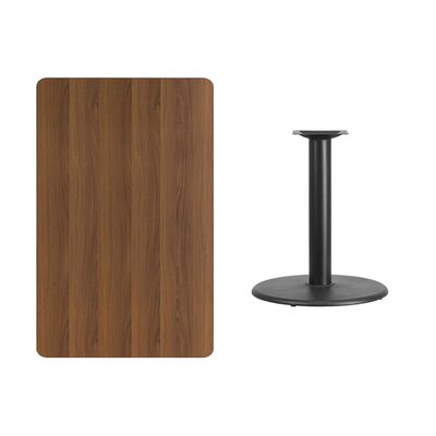 "Mayton Laminate Dining Table Size: 31.13"" H x 48"" L x 30"" W, Color: Walnut"