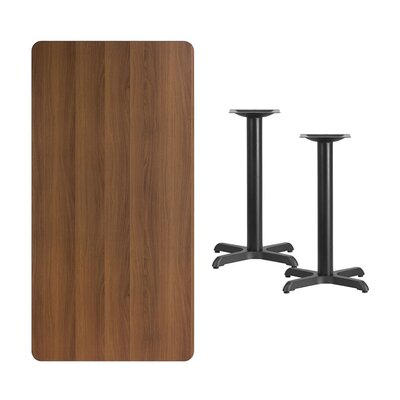 Maziarz Natural Laminate Dining Table Color: Walnut