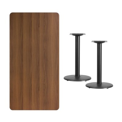 Mazurek Natural Laminate Dining Table Color: Walnut