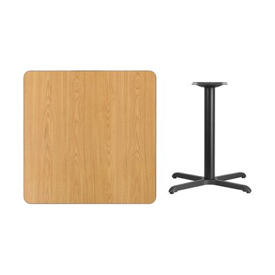 """Mazza Laminate Dining Table Size: 31.13"""" H x 36"""" L x 36"""" W, Color: Natural"""