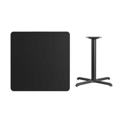 "Mazza Laminate Dining Table Size: 31.13"" H x 36"" L x 36"" W, Color: Black"