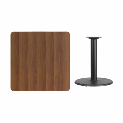 """Mazzola Laminate Dining Table Size: 31.13"""" H x 36"""" L x 36"""" W, Color: Walnut"""