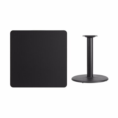 """Mazzola Laminate Dining Table Size: 31.13"""" H x 36"""" L x 36"""" W, Color: Black"""