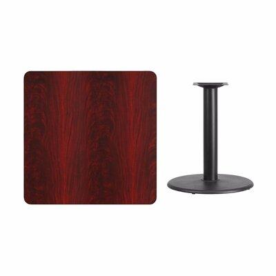 "Mazzola Laminate Dining Table Size: 31.13"" H x 36"" L x 36"" W, Color: Mahogany"