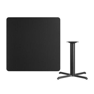 "Mazza Laminate Dining Table Size: 31.13"" H x 42"" L x 42"" W, Color: Black"