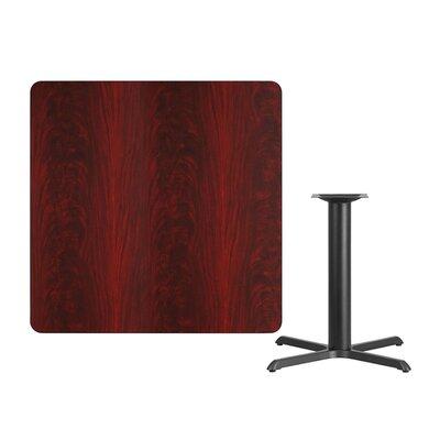 "Mazza Laminate Dining Table Size: 31.13"" H x 42"" L x 42"" W, Color: Mahogany"