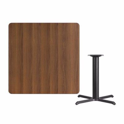 "Mazza Laminate Dining Table Size: 31.13"" H x 42"" L x 42"" W, Color: Walnut"