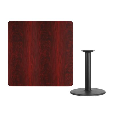 "Mazzola Laminate Dining Table Size: 31.13"" H x 42"" L x 42"" W, Color: Mahogany"