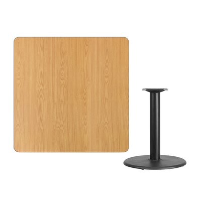 """Mazzola Laminate Dining Table Size: 31.13"""" H x 42"""" L x 42"""" W, Color: Natural"""