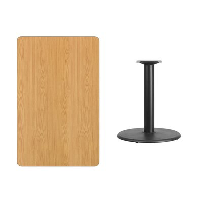 "Mayton Laminate Dining Table Size: 31.13"" H x 45"" L x 30"" W, Color: Natural"