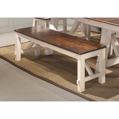 Keturah Farmhouse Solid Wood Bench