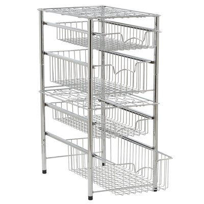 "Chatman Chrome Shelving Rack SIze: 11.5"" H x 10.5"" W x 16.5"" D"