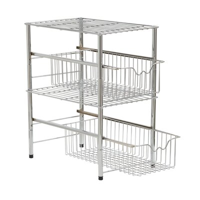 "Chatman Chrome Shelving Rack SIze: 10"" H x 10.5"" W x 16.5"" D"