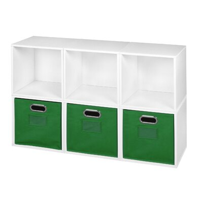 Chastain Storage Cube Unit Bookcase Color: Green