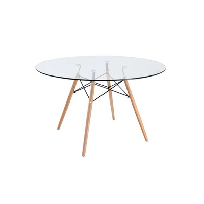 Reynaldo Dining Table Color: Clear