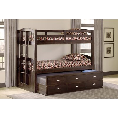 DeMontfort Twin over Twin Triple Bed with Drawer