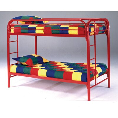 Decatur Black Twin over Twin Loft Bed Color: Red