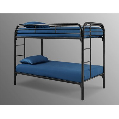 Decatur Black Twin over Twin Loft Bed Color: Black