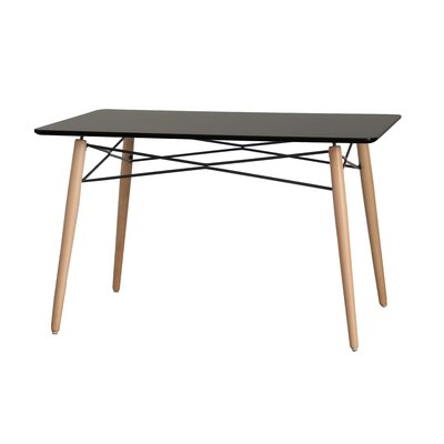 Kamron Glass Top Dining Table Table Top Color: Black