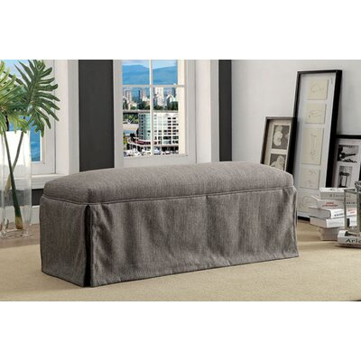 Cohen Upholstered Bench Upholstery: Gray