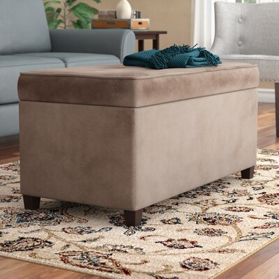 Bourdeau Two Seat Storage Bench Color: Mocha