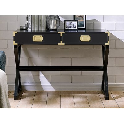 Cleorand Console Table Color: Black