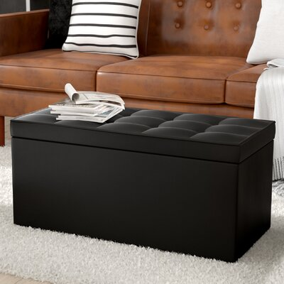 Nydam Upholstered Storage Bench Upholstery: Black