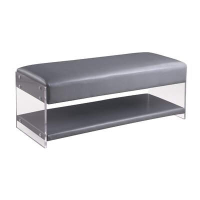 Mcclendon Faux Leather Storage Bench