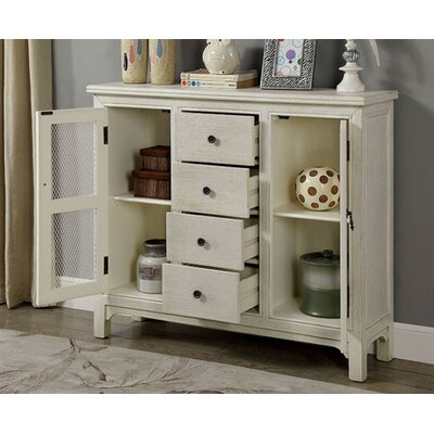 Zendaya Hallway 4 Drawer Accent Cabinet Color: Antique White