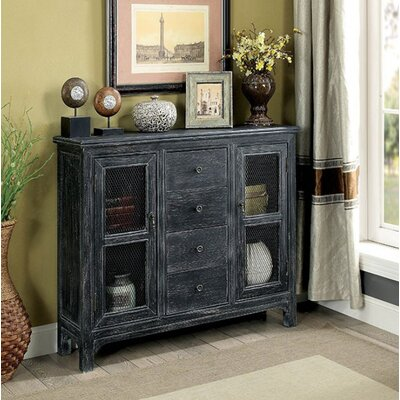 Zendaya Hallway 4 Drawer Accent Cabinet Color: Antique Black