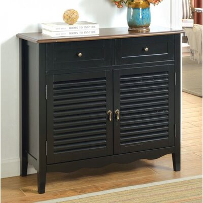 Kalel 2 Drawer Accent Cabinet Color: Black