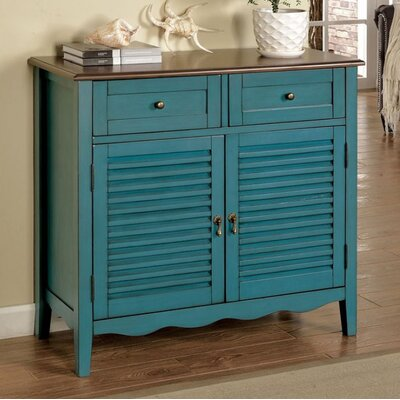 Kalel 2 Drawer Accent Cabinet Color: Antique Teal