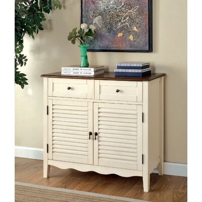 Kalel 2 Drawer Accent Cabinet Color: Ivory