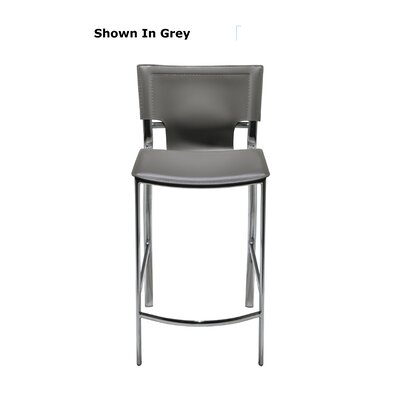 "Hayley 26"" Bar Stool (Set of 2) Upholstery: Light Gray"