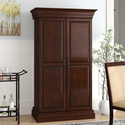 Raleigh Bar Cabinet with Wine Storage Color: Brown