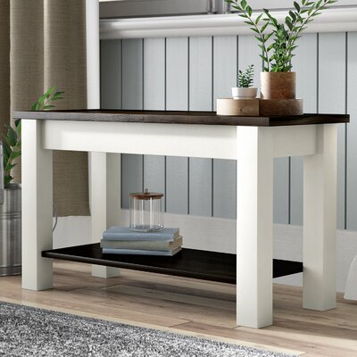 "Su Wood Storage Bench Size: 17"" H x 72"" W x 12"" D"