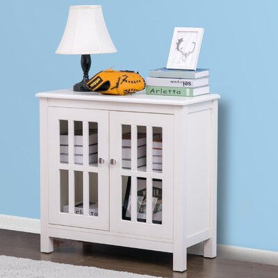 Puaina 2 Door Accent Cabinet Color: White
