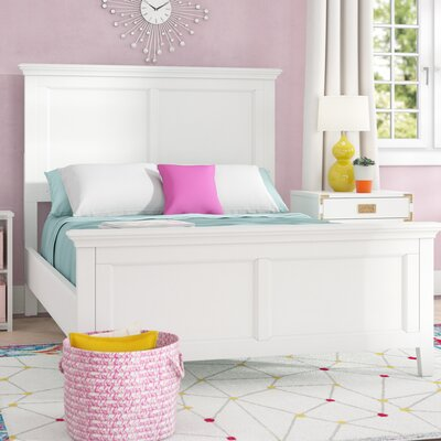 Isabella Panel Bed Color: White, Size: Full